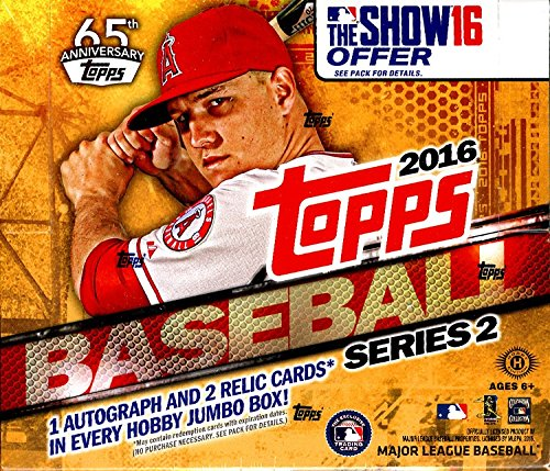 2016-topps-series-2-baseball-hta-10-pack-jumbo-hobby-box-sealed