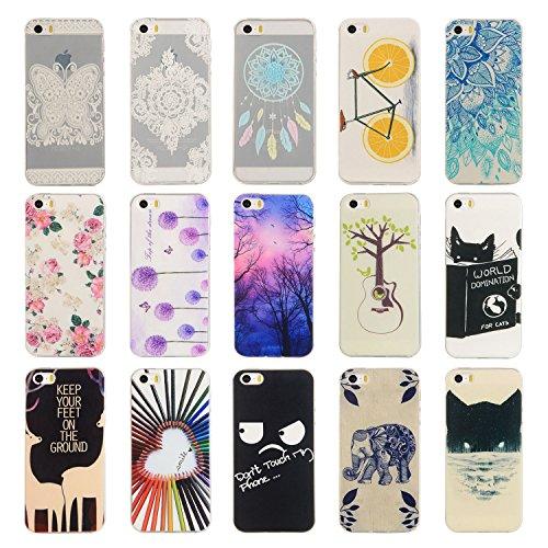 Für Apple iPhone 5 5G 5S / iPhone SE (4 Zoll) Hülle ZeWoo® TPU Schutzhülle Silikon Tasche Case Cover - YG014/ Löwenzahn