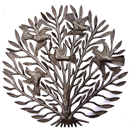 Patio Metal Fall Garden Tree, Handmade in Haiti from Recycled Oil Drum 23