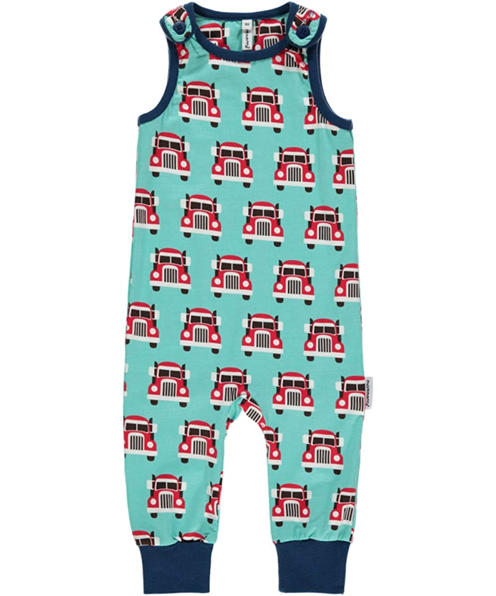 Maxomorra Girls' Dungarees Turquoise Turquoise WI6B-M087-D1087