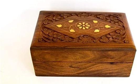 Standard Size, Multicolour Decorative handmade  Jewellery Storage Box out of Gemstones and Sheesham Wood Bride Design