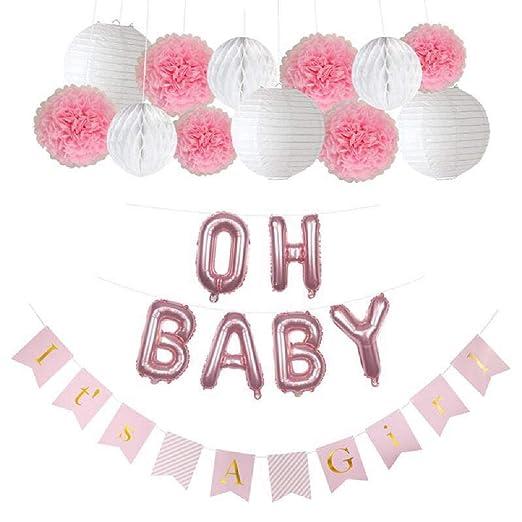 Amazon.com: Baby Shower Decoraciones para niña, it s a Girl ...