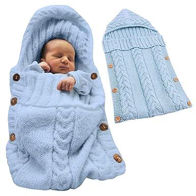 Minetom Saco de Dormir Unisex para Bebés Recién Nacidos Manta para Bebé Carrito de Bebé Blanket Manta para 0 - 12 Meses Azul 72X35 CM: Amazon.es: Ropa y ...