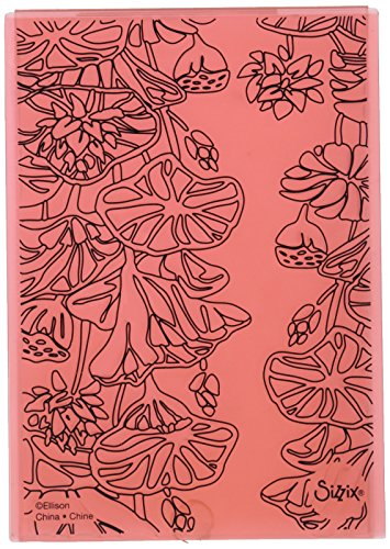 Sizzix Impressions Embossing Folder 661950 3D Textured, Lily Pond