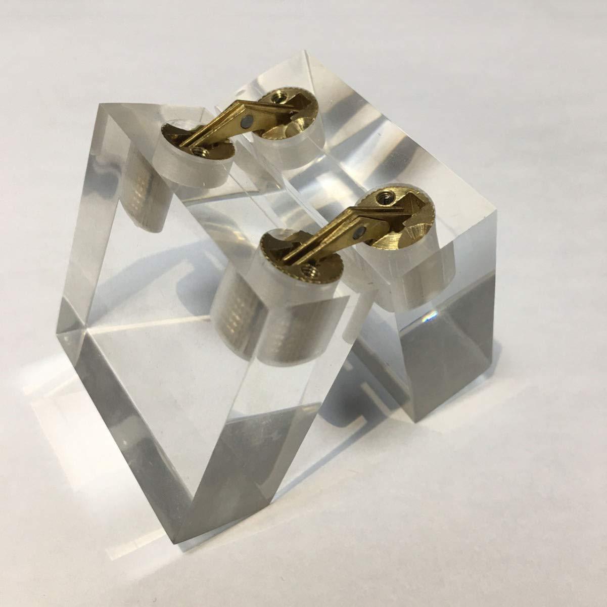 14 mm DOITOOL Bisagras de barril de lat/ón de 4 piezas bisagras de caja de joyer/ía peque/ña bisagras ocultas invisibles ocultas para muebles