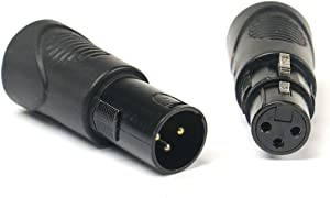 Elite Core-VRL 3 Pin XLR to RJ45 Adapter Set (1) Male and (1) Female VRLDMXRJ45-3P-SET