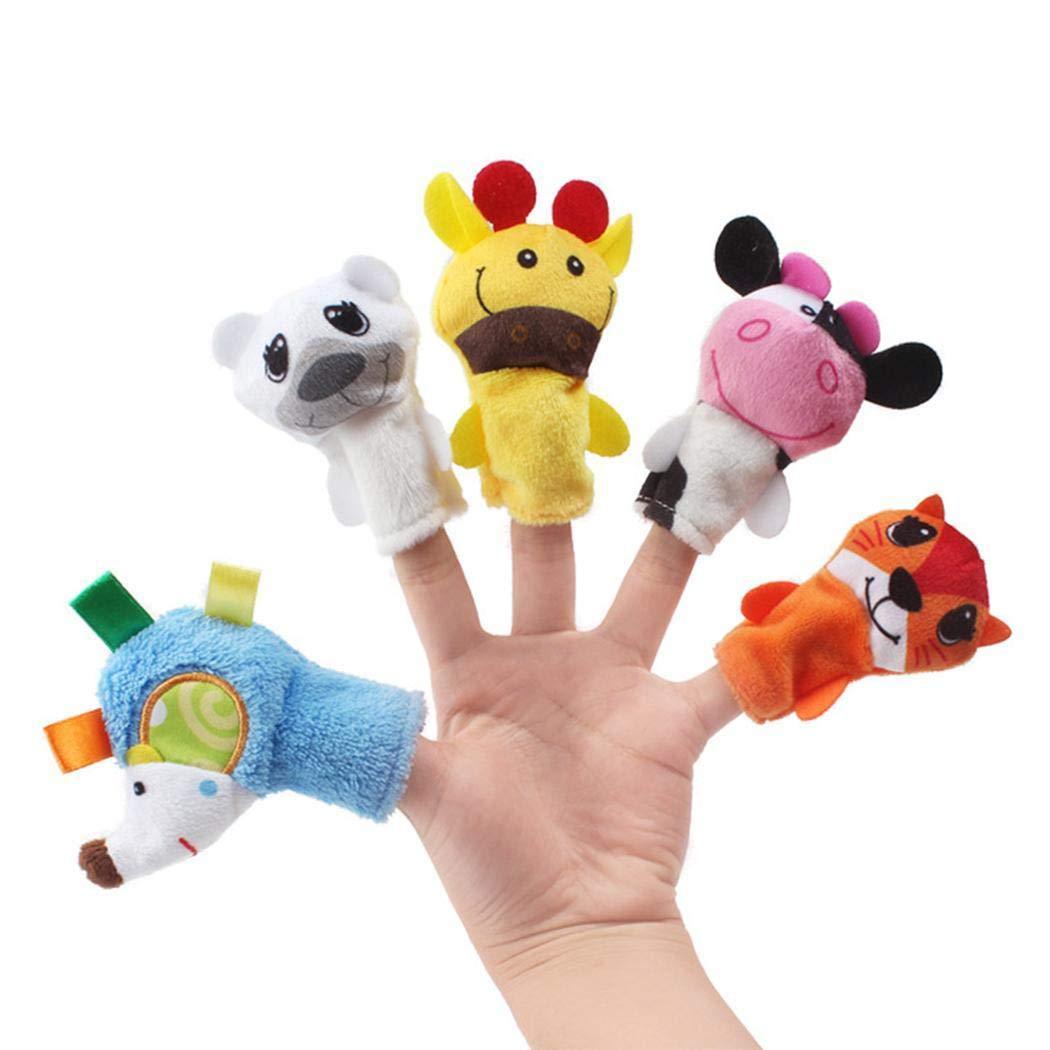 Qenci Cartoon Animal Finger Puppet Children Educational Dolls Toys Finger Puppets