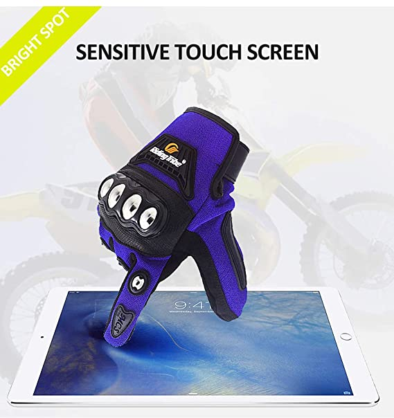 ETbotu Riding Tribe Motocycle Protective Gears Gloves Motorbike Touch Screen Non-Slip Moto Bike Skiing Gloves Black L