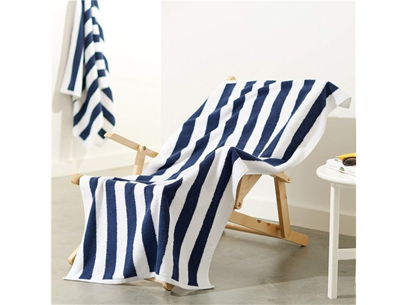 YOIOY Baby Swaddle Wrap Hotel Quality Beach Towel Comfortable Cotton Bath Towe (Blue and White Stripesl 70x150cm) by YOIOY