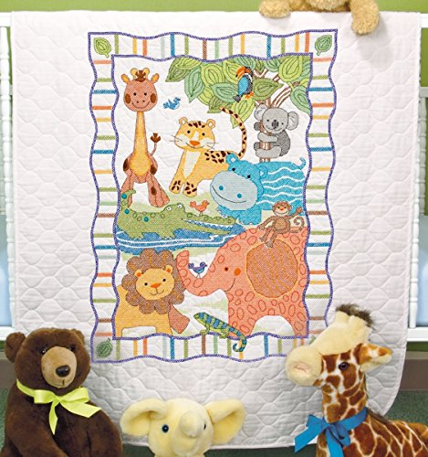 Dimensions - Baby Hugs Mod Zoo Quilt Stamped Cross Stitch Kit - 34