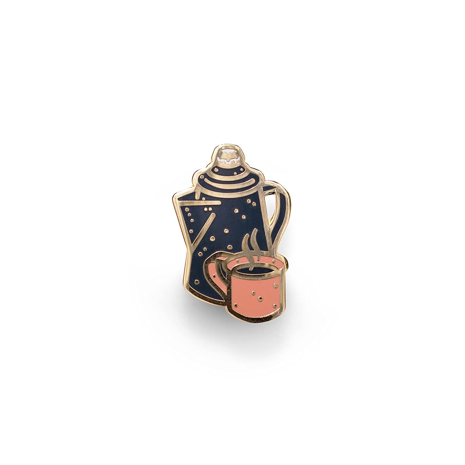National Dry Goods Coffee Camp Outdoor Series Enamel Lapel Pin