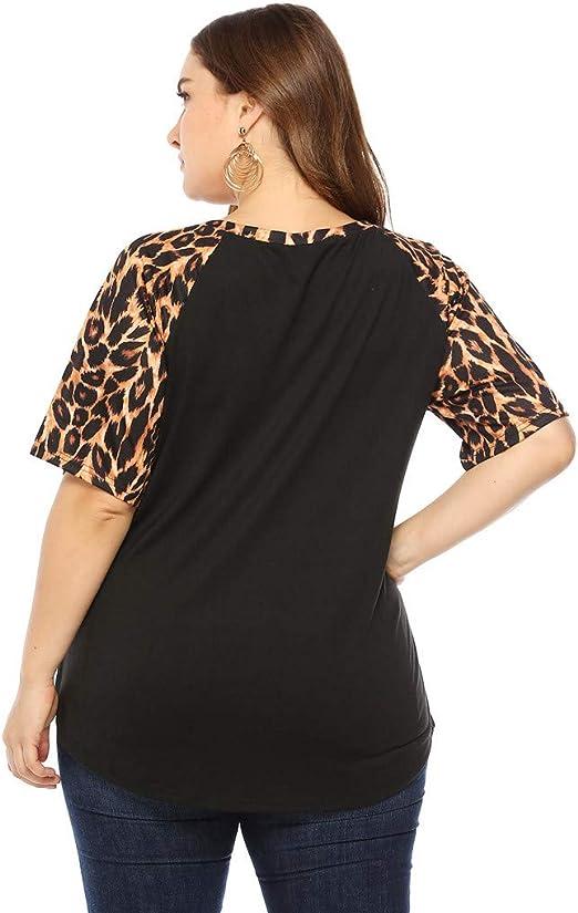 Auifor Camisa de Mujer con Talla Grande, Blusa Cruzada, Camisa de ...