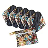 Period Mate Panty Liners 5 Pads and a Wet Bag (Small, Carnival)