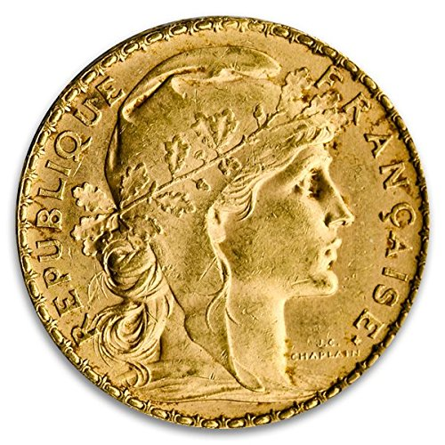 - FR French Gold 20 Franc Rooster Coin (BU, Dates Vary) 20 Franc BU