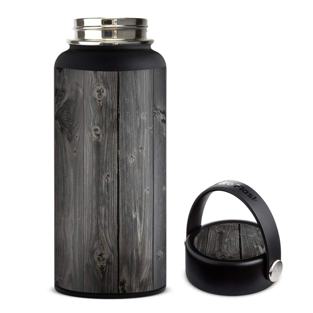 Skin Decal Vinyl Wrap for Hydro Flask 32oz Wide Mouth Skins Stickers Cover/Reclaimed Grey Wood Old