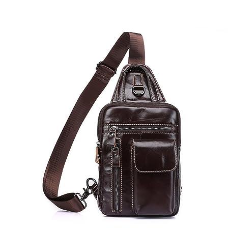 3eecd13cbe87 lightweight crossbody Sling Bag Men s Chest Bag leather Man s Chest Bag vintage  Top Leather