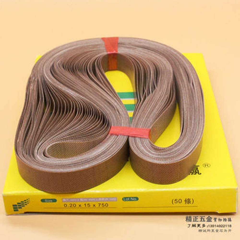 750x15x0.2mm WOWGOGO 50pcs//lot Teflon Belt for FR900 Sealing Machine