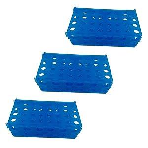 4-Way Micro Tube Rack for 0.5ml, 1.5ml, 15ml, 50ml centrifuge tube, Pack of 3
