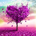 OneHippo 5D Crystal Diamond Painting DIY Counted Paint By Number Kits Cross Stitch Love Tree (35x35)CM