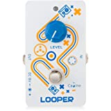 Caline Effect Pedal Electric Guitar Mini Looper Pedals Unlimited Overdubs 10 Minutes of Looping 9V DC White CP-33 Black Friday