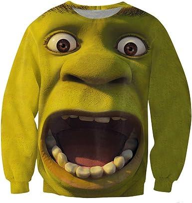 Chiclook Cool Women Men Funny Sweatshirts Cartoon 3D Clothing