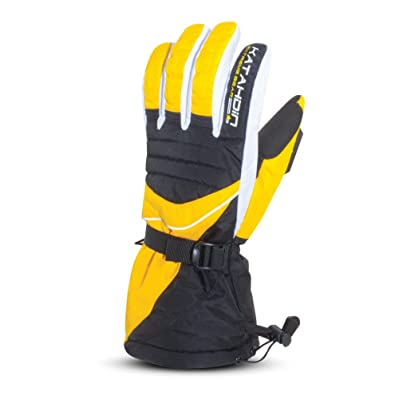 Katahdin Gear Frostfire Snowmobile Gloves Yellow Adult Size M