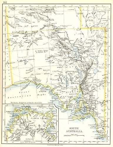 Map Of South Australia And Northern Territory.Amazon Com Australia South Australia Inset Maps Of Arnhem Land