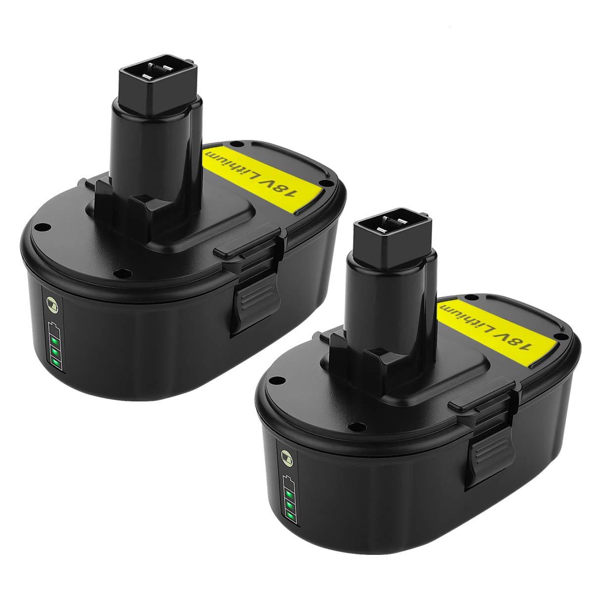 ANTRobut Replacement DC9096 Lithium-ion 3000mAh 18V battery for Dewalt 18 volt XRP battery DC9096 DC9098 DC9099 DE9039 DE9095 DE9096 DE9098 DW9095 DW9096 Cordless Drill dewalt 18v Batteries (2Packs)
