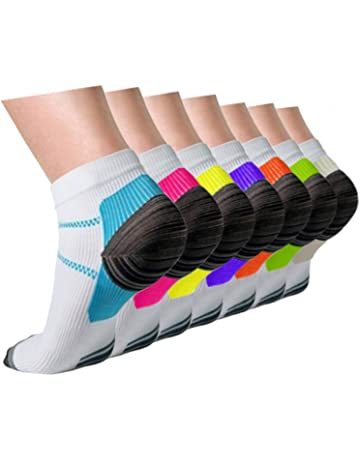 692ed0abc Compression Socks Plantar Fasciitis for Women Men (3 5 7 Pairs)