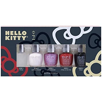 Opi Hello Kitty Nail Polish Collection Infinite Shine 5 Piece Mini Gift Set 0 125 Fl Oz Each