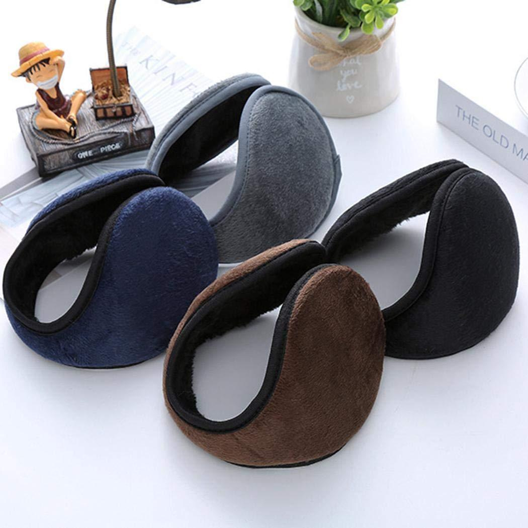 Halffle 1 Pcs Men Earmuffs, Foldable Ear Warmer Unisex, Thicken Ear Warmer Earmuffs, Classic Winter Outdoor Earmuffs by Halffle (Image #7)