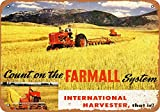 Wall-Color 9 x 12 METAL SIGN - 1946 International Harvester Farmalls - Vintage Look Reproduction