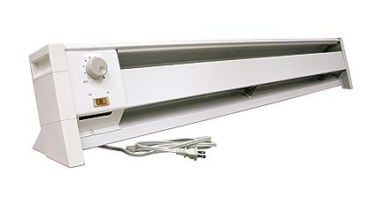 Fahrenheat FBE15002 Dual Wattage Electric 5120 BTU Baseboard Heater,  1500/1000 Watt