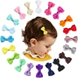 Mery Yuer 20Pcs Baby Hair Clips 2 Inch Hair Bows Baby Girl Hair Accessories Fully Lined Barrettes for Kids Toddlers…
