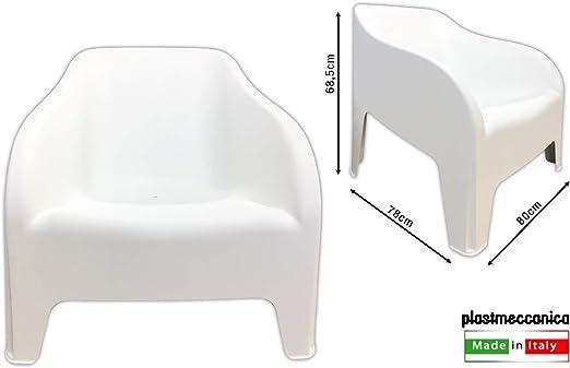 Toomax - Sillón de jardín de resina PETRA Z185, color blanco, 79 x 79 x 80 cm: Amazon.es: Hogar