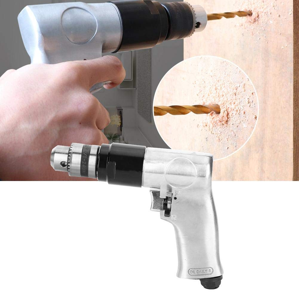 ZGQA-GQA Portable Practica Pneumatic 10mm with Positive and Negative Straight Pneumatic Hand Drill 3//8 Pneumatic Drill with Air Drill Hand Tool Hand Tools Industrial