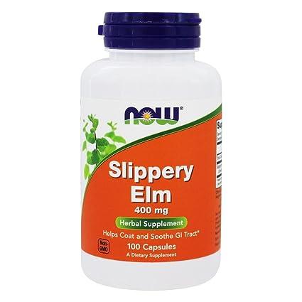Now Foods - Olmo, 400 mg, sin gluten y soya, 100 cápsulas