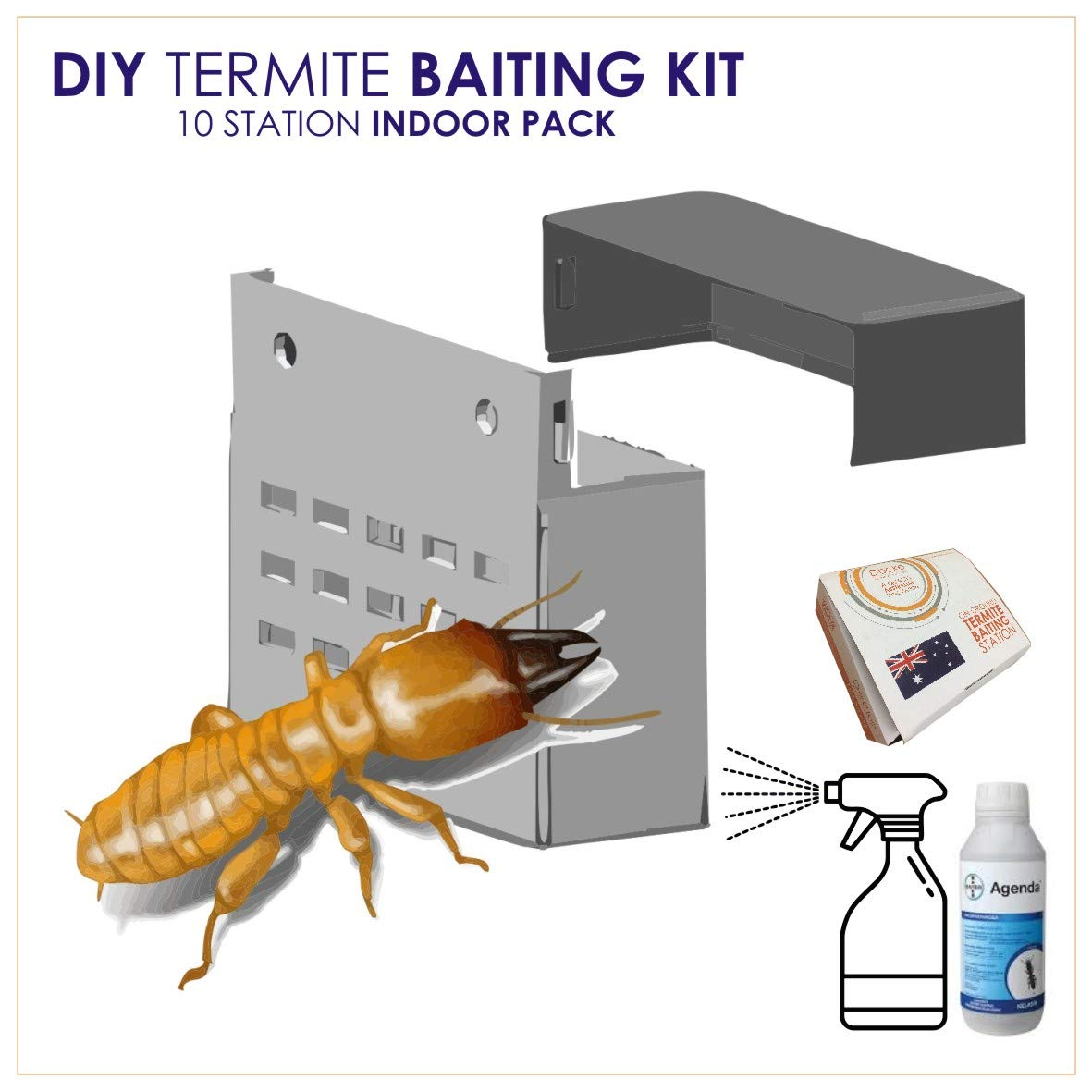 Decke Australia Diy Permanent Termite Killer Baiting System Plus Digger Tool For Garden And Home Termites 10 Station Pack Amazon In Garden Outdoors