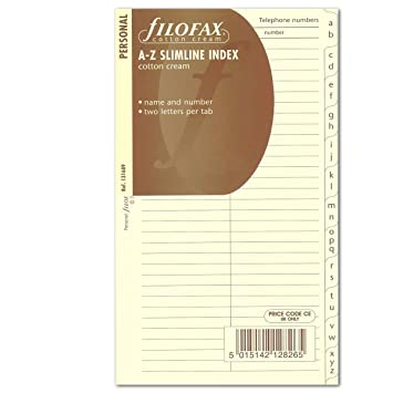 Filofax Personal - Recambio para agenda de anillas (en ...