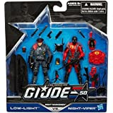 G.I. Joe, 50th Anniversary, Night Marksmen Exclusive Action Figure Set [Low Light vs. Night-Viper], 3.75 Inches