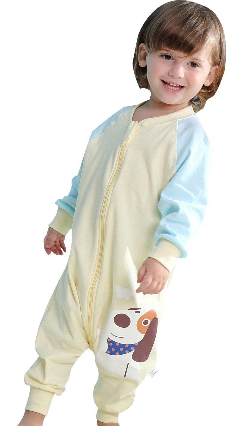 Luyusbaby ベビー 足つき寝袋 ウェアラブルブランケット アーリーウォーカー US サイズ: Medium カラー: イエロー B071KPP1TK Small イエロー イエロー Small
