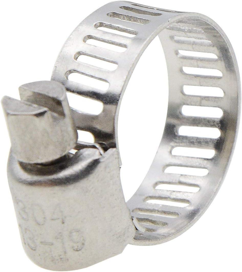 Uotyle Schlauchschellen // Schlauchschellen aus Edelstahl f/ür Schneckengetriebe 12 St/ück Mini-Power-Seal-Schneckenantrieb 13-19 mm Reichweite