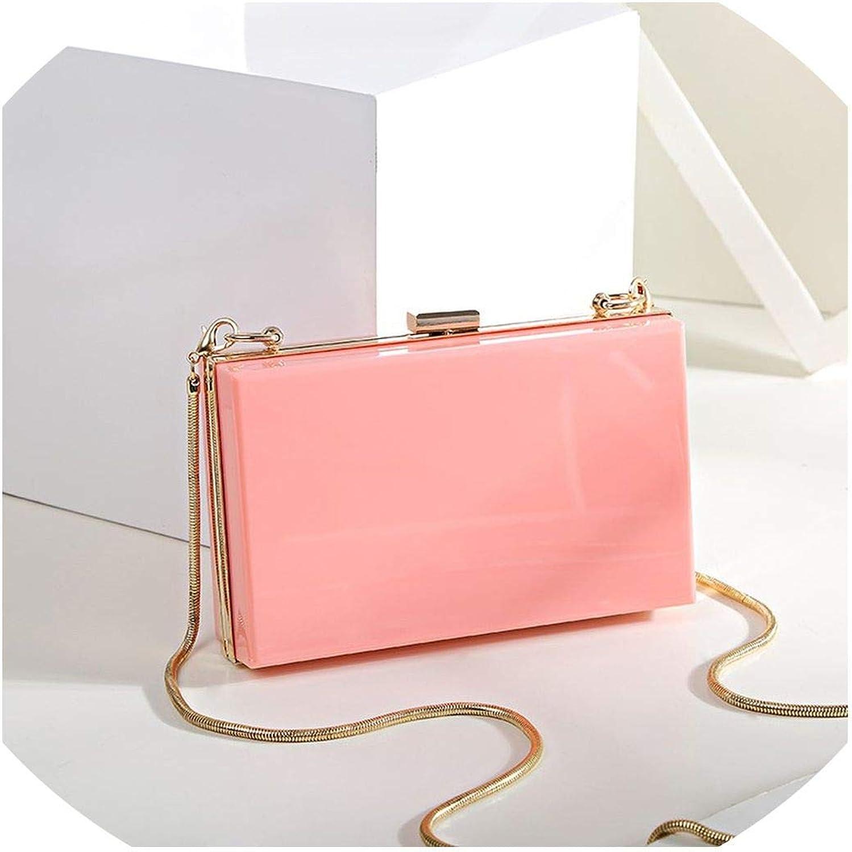 Women Clutch Evening Bag Acrylic Shoulder Crossbody Handbags Transparent Wallet