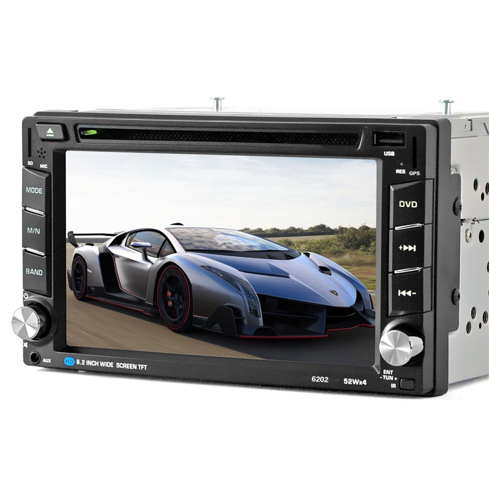 ExGizmo 6.2'' Double 2DIN In Dash GPS Navigation Car DVD Touch Screen Player Bluetooth Auto Stereo Radio + Camera by ExGizmo (Image #3)