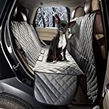Cheap ZQ All Coverage Rear Seat Cover Padded Anti-Slip Dog Car Seat Cover Waterproof Hammock Seat Cover Bench Protector for Pets and Kids (Hammock, Grey)