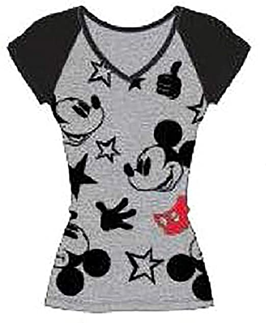 216889465c Image Unavailable. Image not available for. Color  Disney Classic Icon Mickey  Mouse Womens Pajama ...