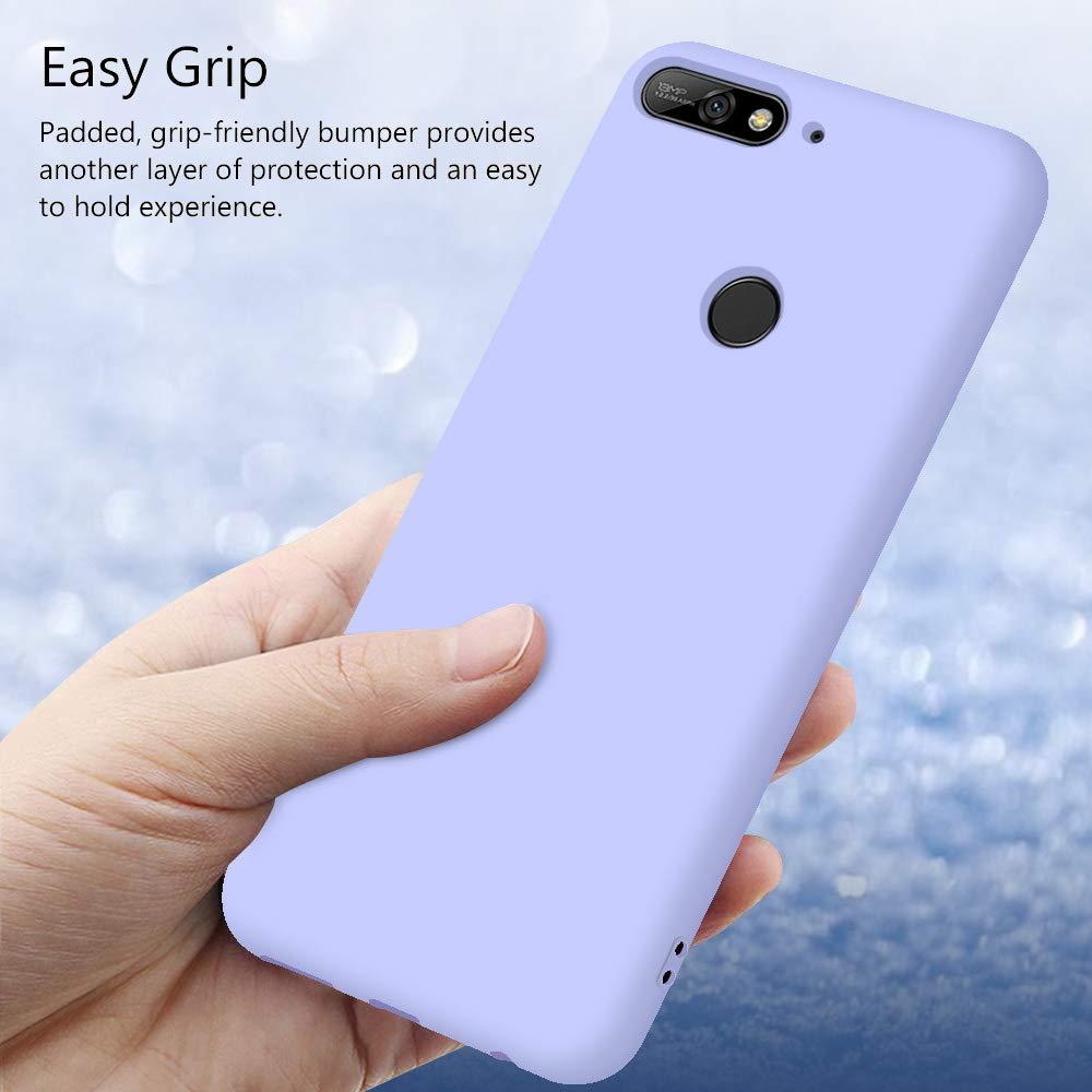 Funda para Huawei Y6 2018 Honor 7C Carcasa Silicona Huawei Y6 2018 Silicona Gel TPU Case Goma Colores del Caramelo Anti-Rasgu/ño Resistente Ultra Suave Protectora Caso Rosa Claro Honor 7C