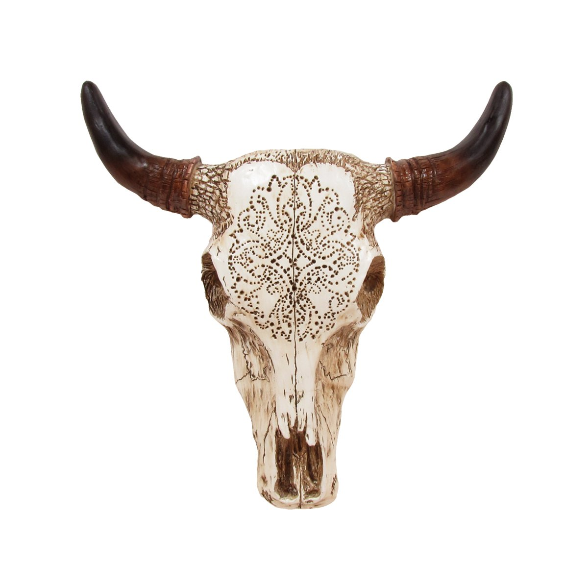 TreasureGurus, LLC Southwestern Tooled Steer/Bull/Cow Skull and Horns by TreasureGurus, LLC