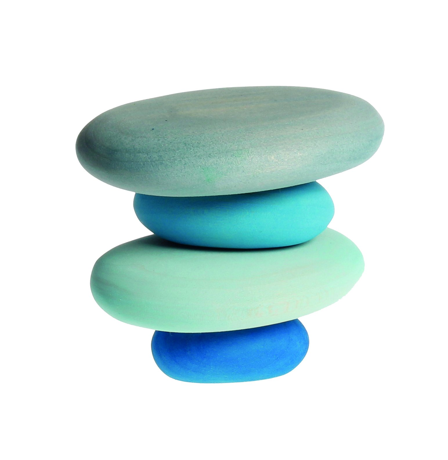 River Pebbles Wooden Stacking Stones for Creative Building & Balance Games
