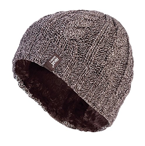 Heat Holders - Women's Thermal Fleece Cable Knit Winter Hat 3.4 Tog - One Size (Fawn) (Performance Thermal Knit)